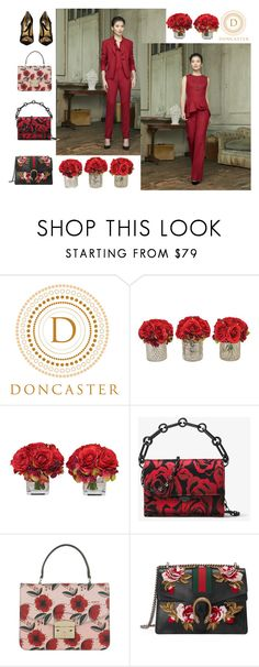 """Roses are red"" by peggy-dunford ❤ liked on Polyvore featuring The French Bee, Michael Kors, Furla, Gucci, Dolce&Gabbana and Doncaster"