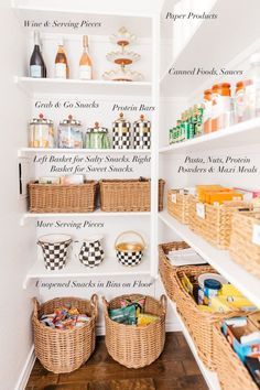 Best Kitchen and Pantry Organization Ideas You Will Love. Best Kitchen and Pantry Organization Ideas. Unlike the kitchen, the pantry is a special room that functions as a place to store cooking utensils, food. Kitchen Organization Pantry, Home Organisation, Pantry Storage, Kitchen Pantry, Kitchen Dining, Kitchen Decor, Organized Pantry, Organization Ideas, Storage Ideas