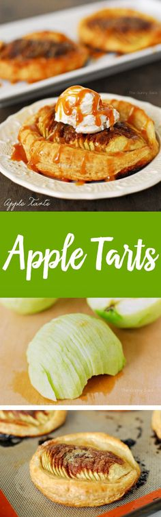 These easy to make Apple Tarts have soft, tart apples, sweet cinnamon and sugar on a flaky, puff pastry crust. It is perfect for fall!