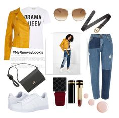 """""""Run away look"""" by ocean-girls ❤ liked on Polyvore featuring Love, By Lassen, River Island, adidas, Kate Spade, Gucci, Topshop and Chloé"""