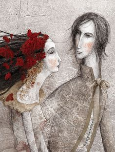 Luis Gabriel Pacheco, 'Beauty and the Beast' Art And Illustration, Fantasy Kunst, Fantasy Art, Gabriel Pacheco, Art Fantaisiste, Figurative Kunst, Inspiration Art, Whimsical Art, Beauty And The Beast