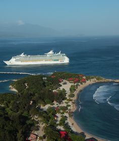 Freedom of the Seas docks in Labadee.