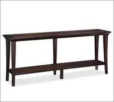Metropolitan Long Console Table | Pottery Barn - stools would be somewhere else in room