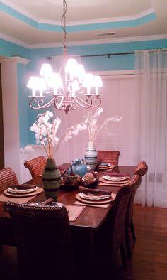 Dining Room tiffany blue