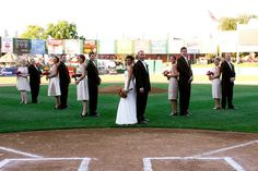 Real Wedding : marrying on home plate of a baseball stadium - Brendas Wedding Blog - wedding blogs with stylish wedding inspiration boards - unique real weddings - wedding vendors