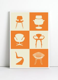 Print poster A3 mid century poster retro poster by angelaferrara