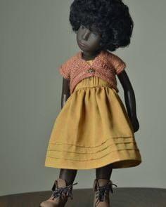 Gold Outfit, Gold Dress, Sasha Doll, African American Dolls, Whittling, Smock Dress, Doll Clothes, Smocked Dresses, Friends