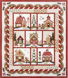 Gingerbread Village Block a Month Coming August Join Now!from the Cotton Patch