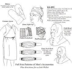 Amazon.com: 1740-1830 Men's Accessories Pattern