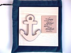 ANCHOR Handmade Verse Decor & Bag. The hope we have by WordofGod