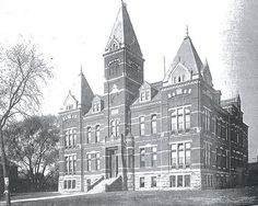 Original Newark HS built in 1884 and demolished in 1939 at 112 W. Main St, in downtown Newark, Oh.