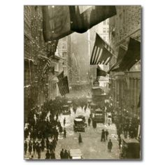 Wall Street Party, end of WW1, 1918
