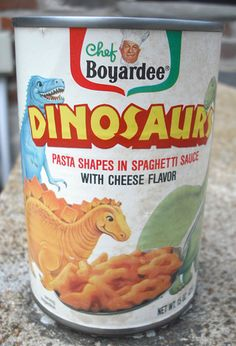 Chef Boyardee Dinos were a self-fulling prophecy. They went extinct just like the real dinos did.