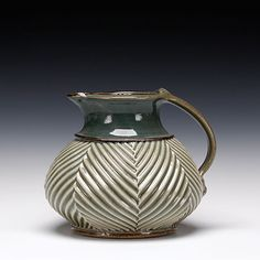 Mark Williams - Small Pitcher - porcelain with pale celadon glaze