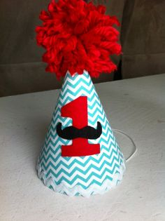 Mustache Birthday Party Hat by sweetlilytutus on Etsy, $16.00