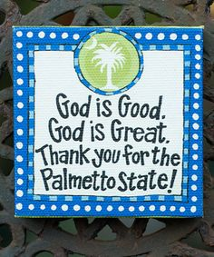 Take a look at this 'Palmetto State' Magnet by Glory Haus on #zulily today!