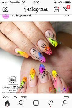 18 Cute Acrylic Nail Designs Boost Your Outstanding Look Cute Acrylic Nail Designs, Cute Acrylic Nails, Nail Art Designs, Spring Nails, Summer Nails, Sculpted Gel Nails, Secret Nails, Almond Nail Art, Diva Nails