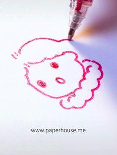✔ Cute Drawings Of Love Kawaii Pretty Drawings, Art Drawings For Kids, Pencil Art Drawings, Art Drawings Sketches, Easy Drawings, Drawing Art, Gel Pen Art, Gel Pens, Stylo Art