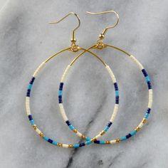 Plastic Earrings, Big Earrings, Seed Bead Earrings, Beaded Earrings, Beaded Jewelry, Handmade Jewelry, Beaded Bracelets, Hoop Earrings, Seed Beads