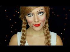 HALLOWEEN: Marionnette/poupée de ventriloque - YouTube
