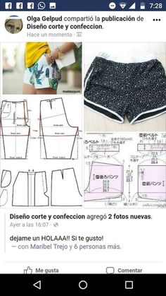 Prodigious Sewing Make Your Own Clothes Ideas Sewing Shorts, Sewing Clothes, Diy Clothes, Moda Vintage Chic, Dress Sewing Patterns, Clothing Patterns, Como Fazer Short, Night Dress For Women, Make Your Own Clothes