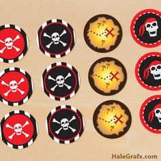 pirate cupcake toppers FREE Printable Pirate Cupcake Toppers
