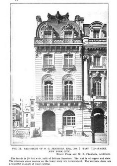 The Oliver G. Jennings residence designed by Ernest Flagg and Walter B. Chambers c. 1899.
