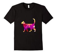 Amazon.com: Paint Splatter/Water Color Cat T-Shirt: Clothing
