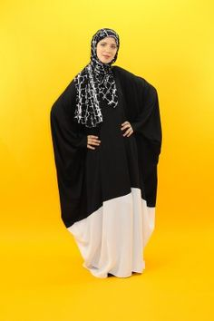 Abaya papillon bi color
