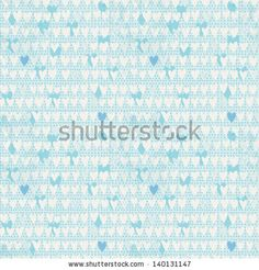 Romantic seamless pattern with small hand drawn hearts.