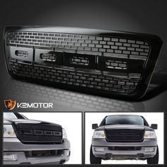 nice 2004-2008 Ford F150 Black ABS Raptor Fashion Entrance Bumper Higher Hood Grille Check more at https://aeoffers.com/product/automotive-vehicles-online/2004-2008-ford-f150-black-abs-raptor-fashion-entrance-bumper-higher-hood-grille/