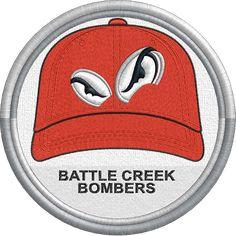 Battle Creek Bombers - baseball cap hat sports logo - Northwoods League - Minor League Baseball - MiLB - Created by Jackson Cage Battle Creek, Minor League Baseball, Sports Logo, Caps Hats, Golf Clubs, Baseball Cap, Cage, Jackson, College