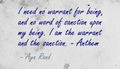 "Anthem Quotes I Ami Thinki Will.""  Ayn Rand  Ayn Rand  Pinterest  More Ayn ."