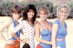 Phoebe Cates, Kathleen Wilhoite, Kari Lizer, and Betsy Russell in Private School Betsy Russell, Phoebe Cates, Kathleen Wilhoite, Private School Girl, Angel Movie, Matthew Modine, Teen Movies, Celebrity Bikini, Hot Actresses