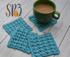 Ravelry: One Cup at a Time Coaster pattern by Sweet Potato 3