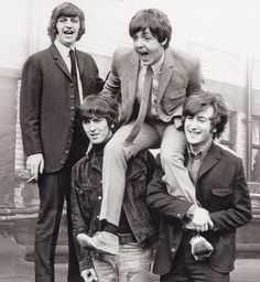 Good Lord, Ringo! How Many Buttons Does One Man Need?!...Epstein Taught These Four Early That Their Style Would Capture The Media & Their Fans...Another Shot With the Four Looking Every Sharp...