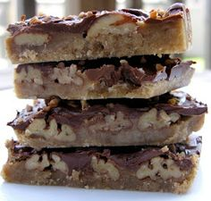 Yum!!  Turtle Cookie Bars