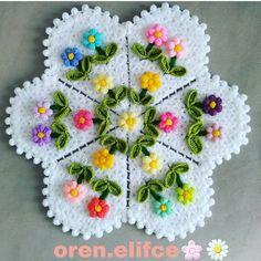 For information on 👉👉 Oren Arbit. Crochet Flower Patterns, Crochet Motif, Crochet Doilies, Crochet Flowers, Free Crochet, Knit Crochet, Diy Embroidery, Cross Stitch Embroidery, Woolen Craft