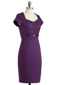 I Dream of Aubergine Dress | Mod Retro Vintage Dresses | ModCloth.com