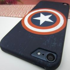 Captain America Hard Impact Case Cover for Apple iPod Touch 5 5G 5th Gen #Disney