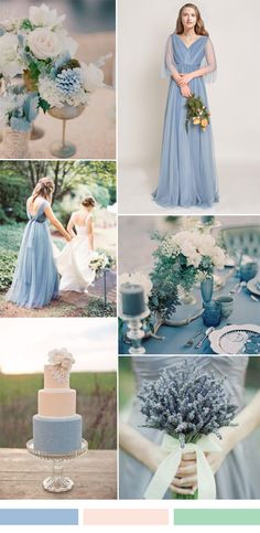 Long Pleated V-neck Tulle Windsor Blue Bridesmaid Dress [TBQP325] - $174.90…