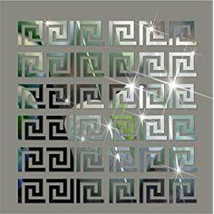 10pcs Modern Acrylic Plastic Mirror Tile Stickers Wall Decal Home Decor DIY Art for Living Room Bedroom Bathroom