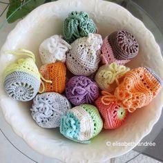Mini crochet pouches- good for mini Easter eggs. More
