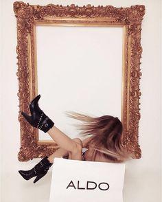 Think outside the box (or the shopping bag) - The Aldo Kedaella boots.