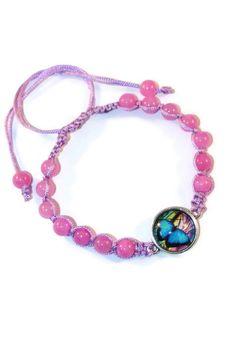 Jade Floral Boho Bracelet Bracelet by MaKatarinaCorner  #bohobracelet , #bohojewelry , #shamballabracelet, #floralbracelet , #jadebracelet , #macramebracelet, #wrapbracelet, #butterflybracelet