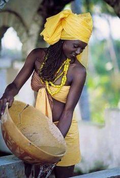 Beautiful Maroon (Ndyuka) woman in Suriname. The Ndyuka people or Aukan people…
