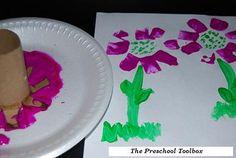 Cardboard Tube Flower Crafts