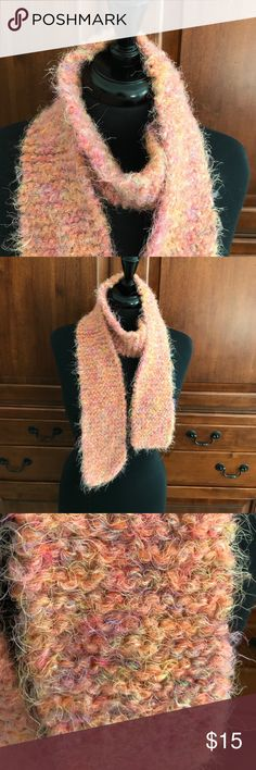 "Autumn Colored Angora Wool Handmade Scarf New, never worn beautiful handmade with angora Wool scarf in gorgeous Autumn colors. As with all handmade items, expect minor irregularities. Hand wash or Dry clean only. Measures: 66"" Long and 4"" Wide Handmade Accessories Scarves & Wraps"