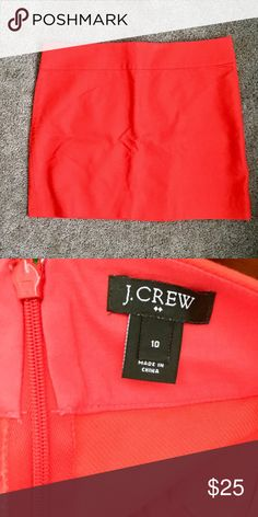 NWOT J.Crew Pencil Skirt New without tag. Bought to add color to my wardrobe but found that I'm not rave enough to wear Orange... 🚫No trade J. Crew Skirts