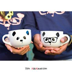 Adorable Panda Cup ♥ ♥ ♥ Follow Kigu Kawaii for more cute stuff! #kigukawaii #cute #kawaii #adorable #kigurumi #kigu #onesie #Panda #Cup #couple